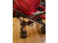 CAM Italian Red Stroller (part of trio combo) in good condition