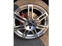 Audi 20 in alloys with tyres 500!!!