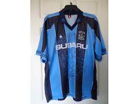 "VINTAGE 1997/98 COVENTRY CITY F C HOME SHIRT SIZE 42/44"". Le Coq Sportif .... SUBARU"