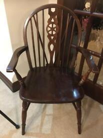 Vintage Windsor carver wooden chair