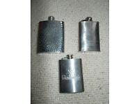 Job lot of 3 hip flasks