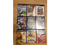PS2 Slim Console black with 9 games and multitap