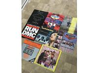 Hip hop vinyl records collection beastie boys run dmc