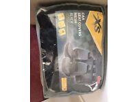 New, in packaging, black mesh car seat covers