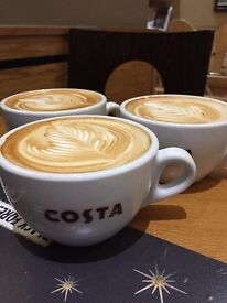 Costa Coffee Christchurch is looking for a flexi part timer to join their bubbly team