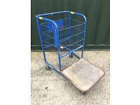 Heavy duty trolley with wire basket