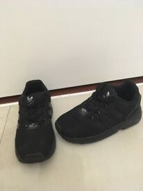 Infants size 8 black Adidas trainers