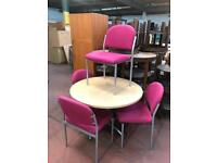 Round Meeting Table & 4 Chair Package