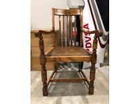 Vintage oak carver chair