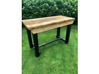 5ft Rustic Heavy Duty Workbench Kitchen Island Table