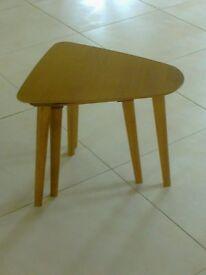 Genuine vintage 70's nest of 2 retro wood side tables