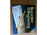 Recorder and beginners book