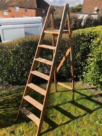 Vintage wooden step ladder ideal weddings display props etc. Can deliver.