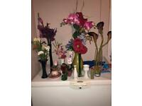 Flowers and vases