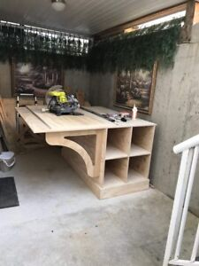 Custom made sewing table