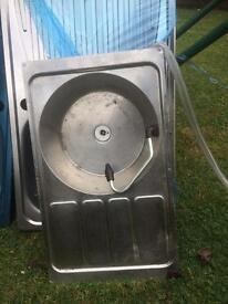 Campervan stainless steel sink.