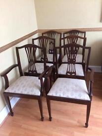 6 dining room upholstered chairs ideal for project