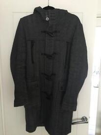 Herringbone winter duffle coat men medium