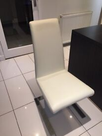 Ivory contemporary Z dining chairs x4