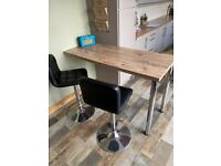 Breakfast Bar Table with Adjustable Seating