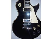1980 Gibson Les Paul deluxe black in colour
