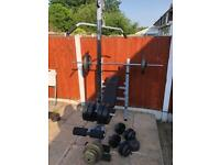Multifunctional Bench With Weights Set. •Can Deliver•