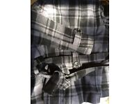 Designer S wool jacket grey size 8 eu36 w/bag