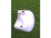 Small Armitage Shanks washbasin, unused.