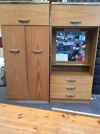 Wardrobe with draw unit