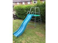 Tp climbing frame and slide has some ware free delivery in ten miles