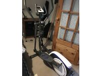 Domyos VE530 Cross Trainer up to 130kg console tells you calories, speed, distance etc 15months old
