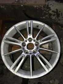 Rear MV3 alloy cracked and repaired, holds air