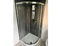 900 x 900 shower quadrant base and enclosure (2-door)