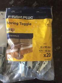 Rawlplug Spring Toggles - Job lot