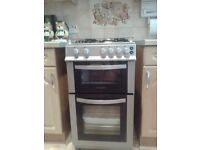 gas cooker black/grey effect