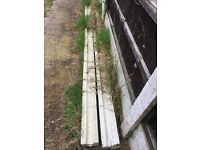 FREE Concrete Fence Posts (2)