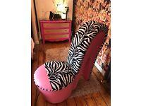 Stiletto chair and mirror