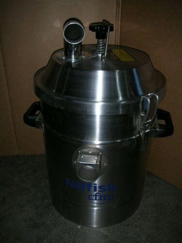 NILFISK CFM Pre-Filtered Separator, Industrial Vacuum System, Stainless, NOS!!