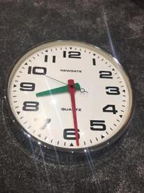 NEWGATE BRIXTON CHROME WALL CLOCK