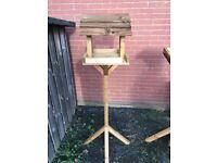 handmade wooden bird house/feeder