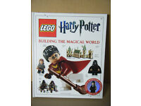 "Lego ""Harry Potter, Building the Magical World"" book with Minifigure."