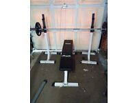205 kg Olympic barbell + weights + accessories