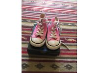 Converse toddler pink trainers size 6