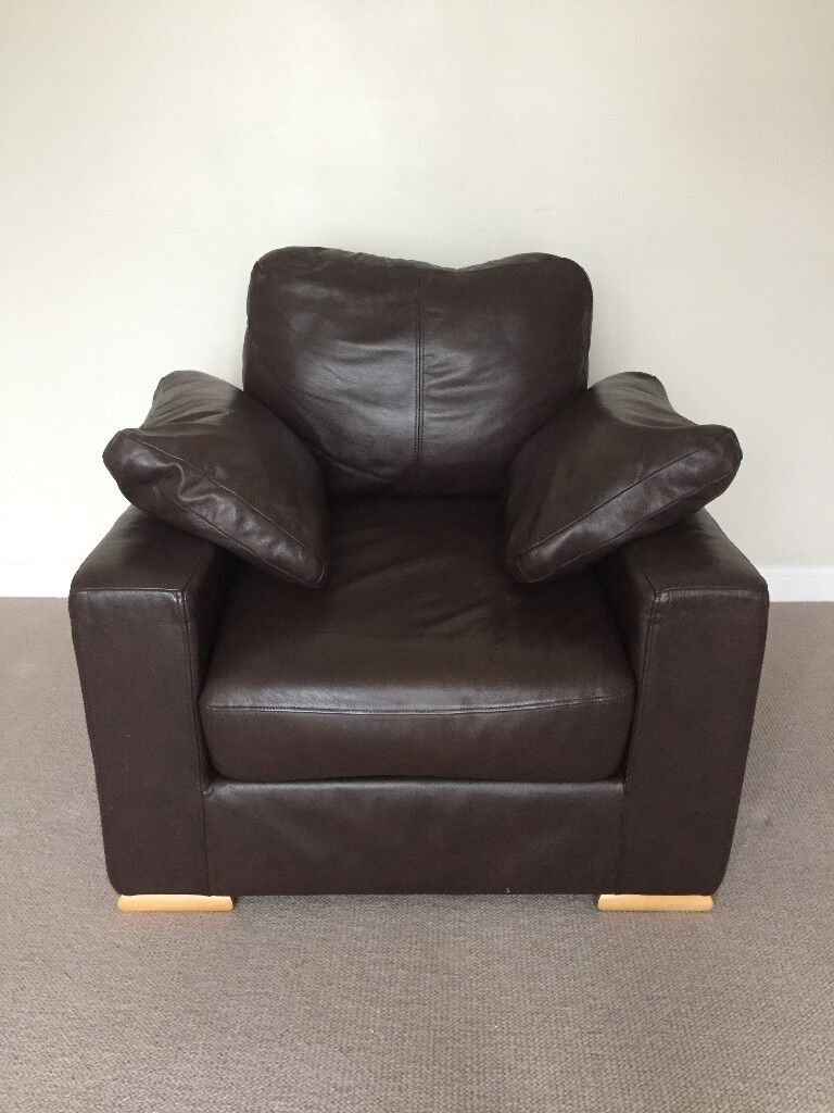 Brown Leather Armchair Klaussner Furniture In Royal Wootton