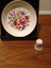 Royal Worcester plate & thimble