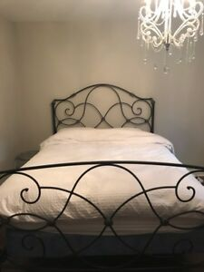 Bombay double bed rod iron complete