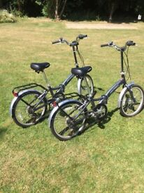 Two Lightweight Folding bicycles for sale
