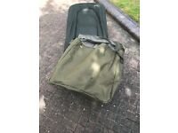 Wychwood Carp Fishing Bed Chair, six legs and in great condition including carry bag.
