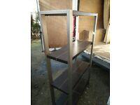 Faux leather shelving unit