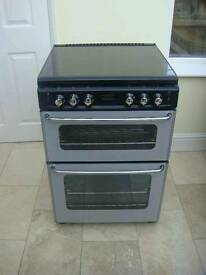 STOVES DOUBLE GAS SILVER/BLACK COOKER